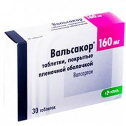 Вальсакор, табл. п/о пленочной 160 мг №30