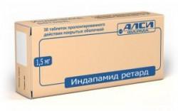 Индапамид ретард-АЛСИ, табл. пролонг. п/о пленочной 1.5 мг №30