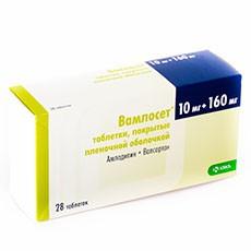 Вамлосет, табл. п/о пленочной 10 мг+160 мг №28