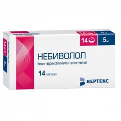 Небиволол, табл. 5 мг №14 упаковки ячейковые контурные