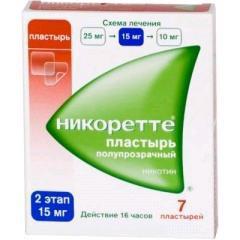 Никоретте, трансдерм. терапевт. система 15 мг/16 ч №7