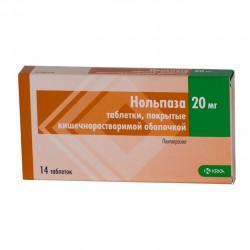 Нольпаза, табл. п/о кишечнораств. 20 мг №14