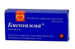 Бисогамма, табл. п/о пленочной 10 мг №30