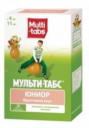 Мульти-табс Юниор, табл. жев. №30 фрукты