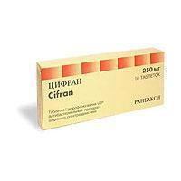Цифран, табл. п/о пленочной 250 мг №10