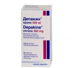 Депакин хроно, табл. пролонг. п/о 500 мг №30