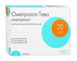 Омепразол-Тева, капс. кишечнораств. 20 мг №28