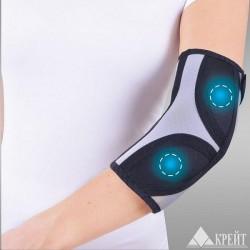 Бандаж для коленного и локтевого сустава, Крейт р. 1 (обхват локтя 21-23 см) А-400 с аппликаторами биомагнитными медицинскими черно-серый