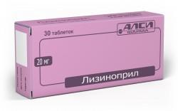 Лизиноприл-АЛСИ, табл. 20 мг №30
