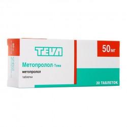 Метопролол-Тева, табл. 50 мг №30
