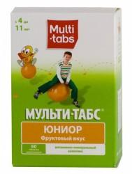 Мульти-табс Юниор, табл. жев. №60 фрукты