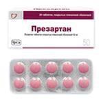 Презартан, табл. п/о пленочной 50 мг №30