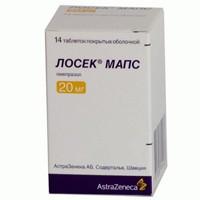 Лосек МАПС, табл. п/о пленочной 20 мг №28