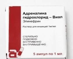 Адреналина гидрохлорид-Виал, р-р д/ин. 1 мг/мл 1 мл №5 ампулы