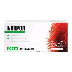 Бипрол, табл. п/о пленочной 5 мг №30