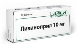 Лизиноприл-АЛСИ, табл. 10 мг №30