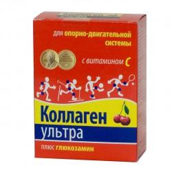 Коллаген ультра плюс глюкозамин, 8 г №7 вишня пакет