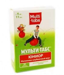 Мульти-табс Юниор, табл. жев. №60 малина-клубника