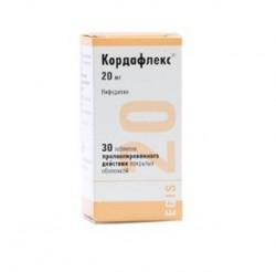 Кордафлекс, табл. пролонг. п/о 20 мг №30